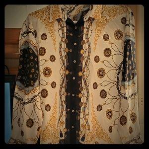 Zara printed blouse 💗